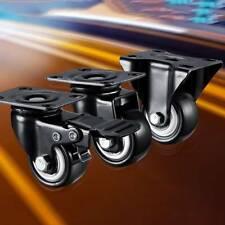 Heavy Duty Swivel Castor Wheels Trolley Furniture Casters Rubber Black Sh