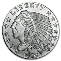 1 oz Silver Round - Incuse Indian - SKU #29007
