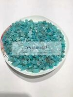 Bulk  Natural amazonite Quartz Crystal Chips 5-7mm tumbled 1/2lb