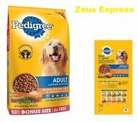 Healthy Dry Dog Food PEDIGREE 50 -100 -150 Pounds Adult Chicken Vegetable Flavor