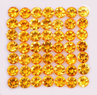 NATURAL CITRINE 4 MM ROUND CUT YELLOW FACETED LOOSE CALIBRATED AAA GEMSTONE LOT