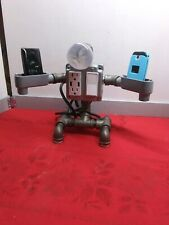 Handcrafted Industrial Antique style Pipe Desk, Table lamp -Phone Charger