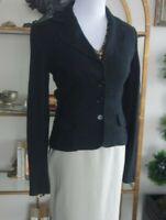 Perfect Basic! Dolce&Gabbana Black Woven Tweed Blazer Suit Jacket 38 2/4