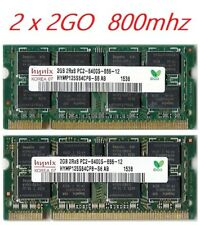 4Go Mémoire RAM DDR2 HYNIX 2 x 2Go Portable SODIMM 200 Pins PC2-6400 800MHz