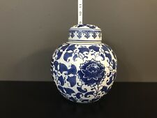 Chinese Antique Blue White Double Happiness Porcelain Ginger Jar With Lid