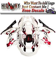 Fairings For Yamaha YZF-600R 97-07 ABS Fairing Kit Bodywork White Red Flames New