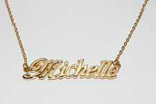 MICHELLE 18ct Gold Plating Necklace With Name - Anniversary Neckless Pendant