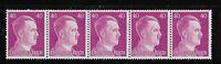 #6535    PF40  MNH stamp strip / Adolph Hitler / WWII Germany / Third Reich era