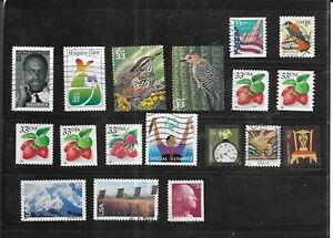 USA 1999-2004. SELECTION OF 18.  FINE  USED. AS PER SCAN