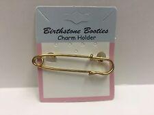 BIRTHSTONE BOOTIES SAFTEY PIN CHARM HOLDER