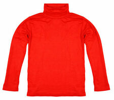 Boys' No Pattern Polo Neck Long Sleeve Sleeve T-Shirts & Tops (2-16 Years)