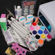 2018 36W UV GEL Lamp Dryer 12 Soild Color UV Gel Nail Art Tools Sets Kits
