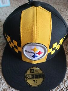 Pittsburgh Steelers 59fifty New Era NFL 100 City Flag Size 7-3/4 Fitted HAT CAP