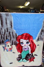BABY SIZE BLANKET BEDSPREAD WITH A PICTURE OF A MERMAID