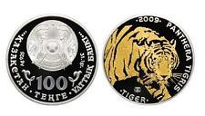 """Kazakhstan 100 Tenge plata 2009 TIGRE  """"phantera tigris"""" TIGER - Kazajistan"""
