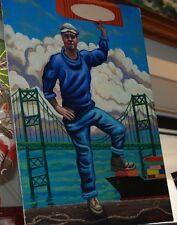 """16"""" x 12"""" Tom Phillips Longshoreman Oil Painting"""