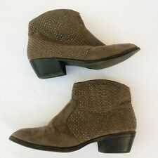 Target Womens Ankle Booties Boots Size 8 Studded Camel Brown Tan Zip Shoes