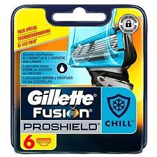 Gillette Fusion ProShield Chill pour Homme 6 Recharges de Lames de Rasoir