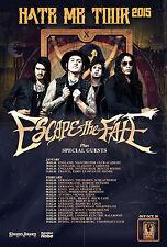 "Escape The Fate ""Hate Me Tour 2015"" European Concert Poster- Post-hardcore Music"