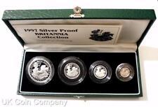 1997 Britannia Fine Silver Proof Four Coin Collection Boxed & Certificate