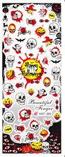 Nail Art Water Decals Happy Halloween Skull Bat Dracula Spider Pumpkin HOT301