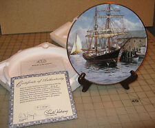"""""""Prelude To The Journey"""" Tall Sailing Ship Collector Plate with Coa - Vickery"""