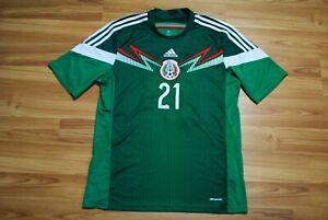 MEXICO NATIONAL TEAM HOME FOOTBALL SHIRT 2013/2015 JERSEY ORIGINAL ADIDAS LARGE