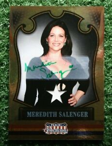 2011 Panini Americana Meredith Salenger #61 Autograph Swatch Relic Card #'d /99