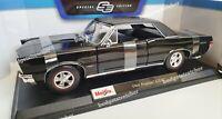 MAISTO 1:18 Scale - 1965 Pontiac GTO - Black- Diecast Model Car