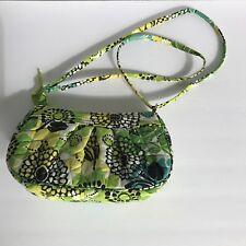 Vera Bradley Purse Small Over the Shoulder Bag Crossbody Lime Up