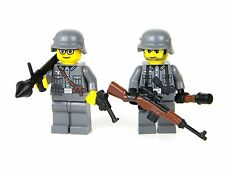 German 2 RPG Wehrmacht minifigure soldiers(SKU20) made with real LEGO®  minifigs