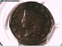 1827 Large Cent PCGS Genuine Damage - G Detail 38421297 Video