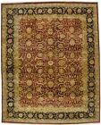 12X15 Agra Jaipur Black Floral Vintage Handmade Oriental Rug Carpet 11'9X14'7