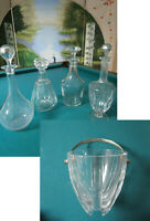 BACCARAT CRYSTAL FRANCE DECANTER ICE BUCKET PICK ONE