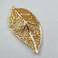 20X Gold Zinc Alloy Silkworm Tree Leaf Charms Pendant Findings 21*42mm 39731
