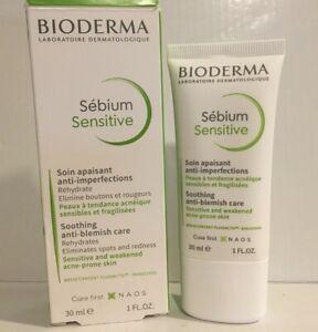 Bioderma Sebium Sensitive Soothing Anti-Blemish Care 30ml Exp 05/2022 Sealed