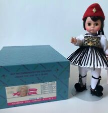 "Madame Alexander Doll 8"" International Greece 527 with Box Tags and Stand"