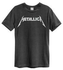 Metallica 'Logo' (Carbón) T-Shirt - Amplified Clothing - ¡NUEVO Y OFICIAL!