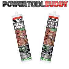 2 x EXPRESS PREMIUM READY MIX CEMENT REPAIR CARTRIDGE 300ml TUBE GREY CARTRIDGE
