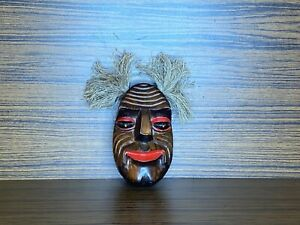handmade wooden small hanging mask