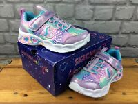 SKECHERS UK 13 EU 32 SWEETHEART LIGHTS TRAINERS MULTICOLOURED CHILDRENS GIRLS M