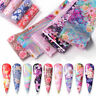 10Pcs Flowers Nail Foils Colorful Foil Nail Art Transfer Stickers Decal Tips DIY