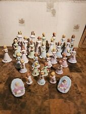 31 pc Enesco Growing Up Birthday Girls Figurines Blonde & Brunette