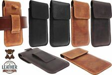 RIC MAGNETIC FLAP WAIST POUCH GENUINE LEATHER VERTICAL CASE COVER FOR PHONES