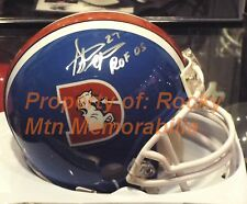 "Denver Broncos STEVE ATWATER Signed D-Logo Mini Helmet w/ ""ROF '05"" JSA COA."