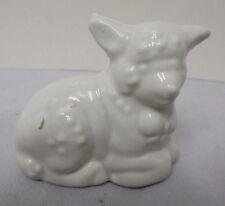 "Lamb, Porcelain, White, 3""x2.25"" Vintage"