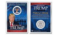 DONALD J. TRUMP 45th President WHITEHOUSE JFK Half Dollar Coin in PREMIUM HOLDER