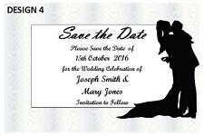 1 x SAVE THE DATE WEDDING PERSONALISED PARTY CARDS INVITATIONS + FREE MAGNETS