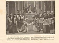 1901 ANTIQUE PRINT - ACCESSION OF ARCHBISHOP SMITH AS RC PRIMATE OF SCOTLAND