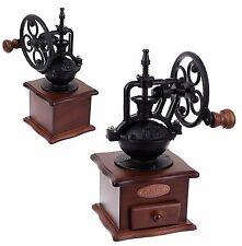 Kitchen Craft  Coffee Bean Hand Grinder Mill Grinding vintage wooden Large